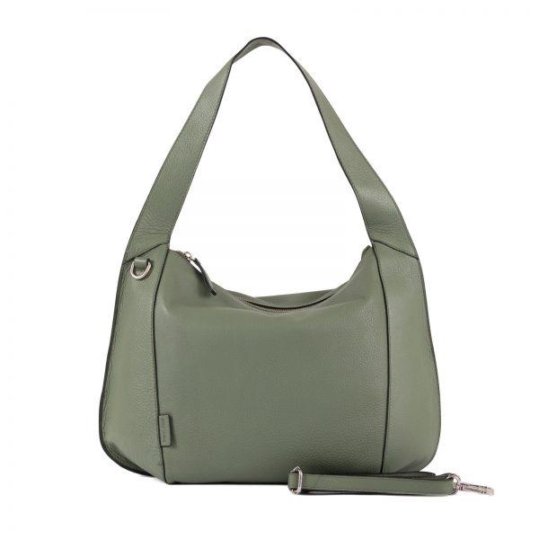 439608gruen Damen, Frauen, Handtasche, Handtaschen, Leder, Schultertaschen, Taschen 4393607-622