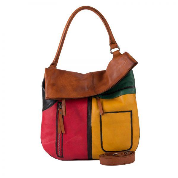 4624462 TAN MULTI 1 Damen, Frauen, Frühjahr/Sommer 2020, Handtasche, Handtaschen, Leder, Schultertaschen, Taschen, Vintage 4624462-97