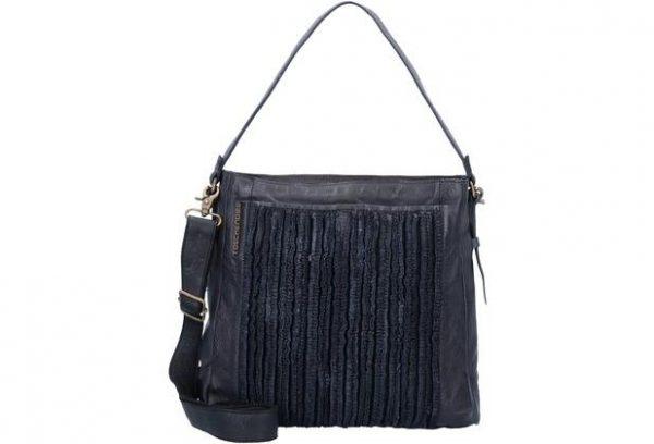 TD0410 black Damen, Frauen, Handtaschen, Leder, Schultertaschen, Taschen, Vintage TD-410