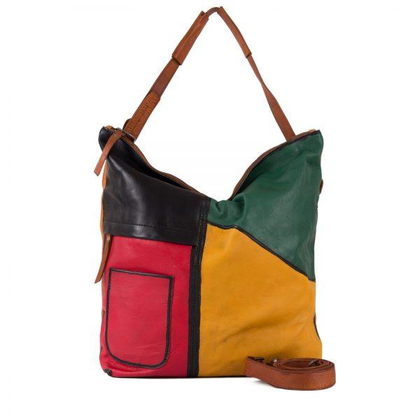 4624461 TAN MULTI 1 Damen, Frauen, Frühjahr/Sommer 2020, Handtasche, Handtaschen, Leder, Schultertaschen, Taschen, Vintage 4624461-97
