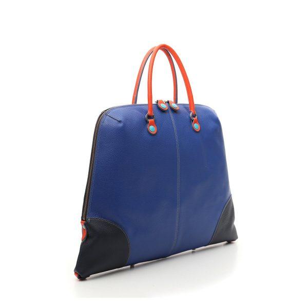 Satchel MANUELA in multicolor matt leather   G003400T3.X1130.F3107 02 Businesstaschen, Damen, Frauen, Handtasche, Leder, Taschen G003400T3X1130