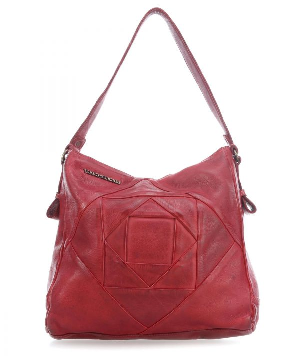 td0401 rot Damen, Frauen, Handtasche, Handtaschen, Herbst/Winter 2018, Schultertaschen, Vintage TD-H18040-grau